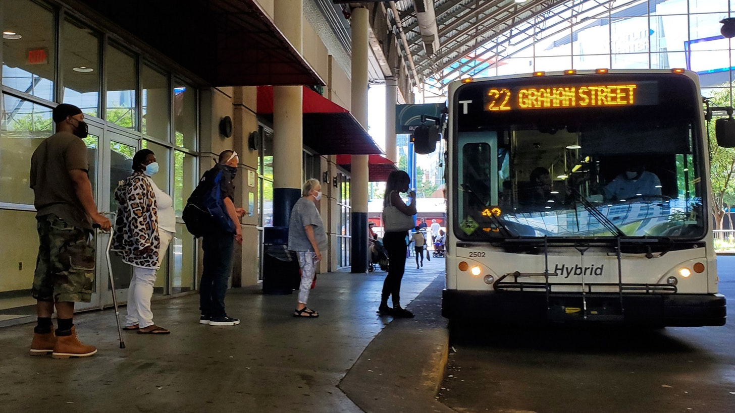 The CATS bus transit center in Charlotte