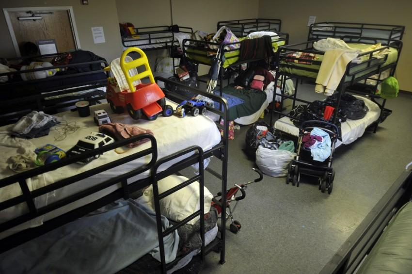 This 2010 photo of toys on bunk beds at the Salvation Army Center of Hope shelter for women and children shows how homelessness is not just for adults. Photo: Nancy Pierce
