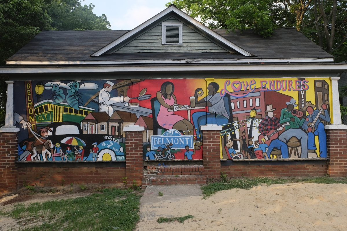 A mural in the Belmont neighborhood.