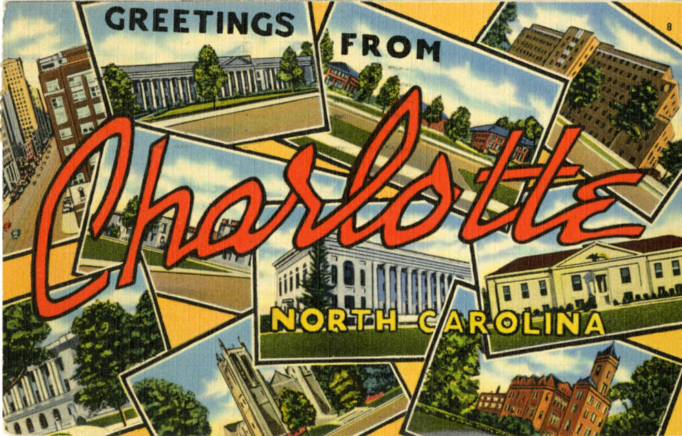A vintage postcard for Charlotte. Photo: Atkins Library, special collections.