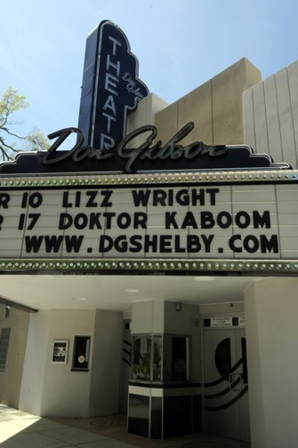 The Don Gibson Theater in downtown Shelby