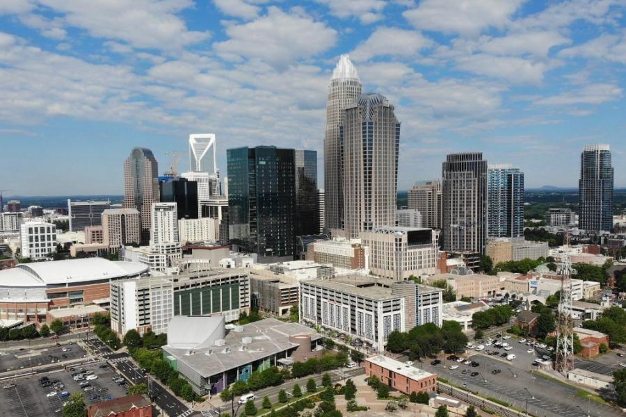 Uptown Charlotte skyline