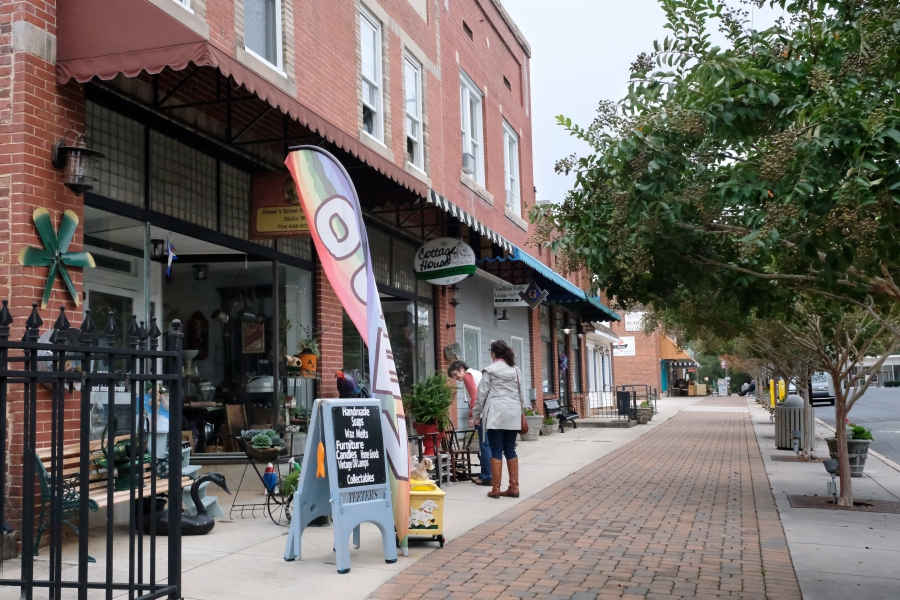 Downtown Badin, Stanly County NC