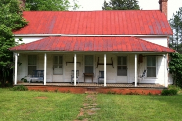 """Grissom House in Ophir: a variation on the """"double pen"""" or """"hall-and-parlor"""" style."""