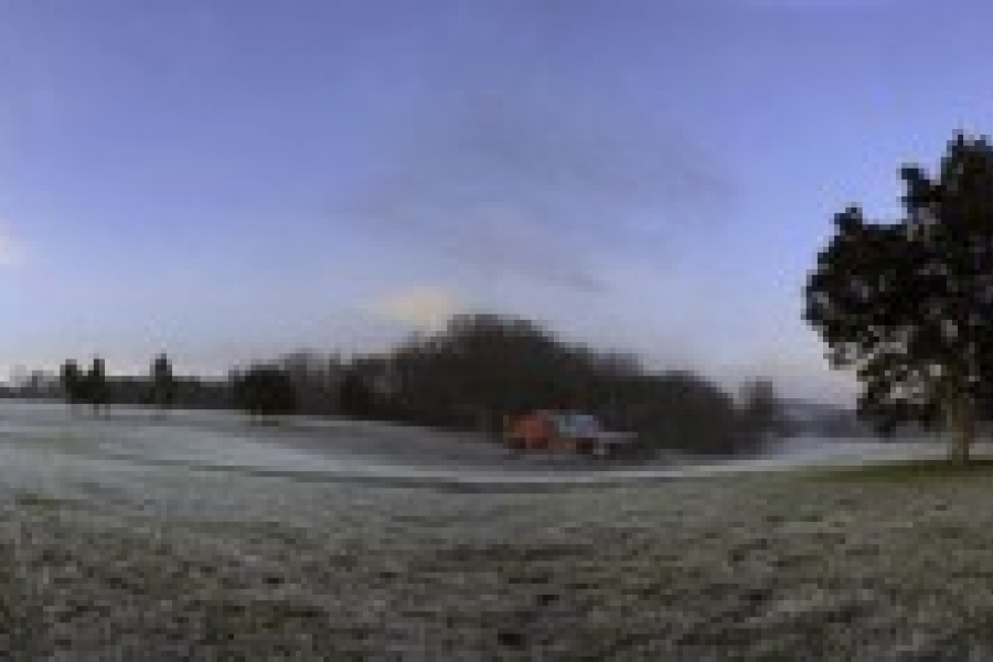 A winter morning in rural Gaston County.