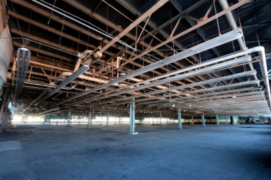 Interior of the old Ford Assembly Plant built in 1924.