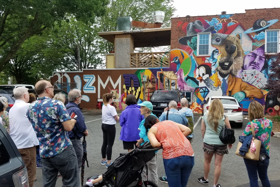 A mural in the Plaza Midwood neighborhood. Photo: Angelique Gaines.