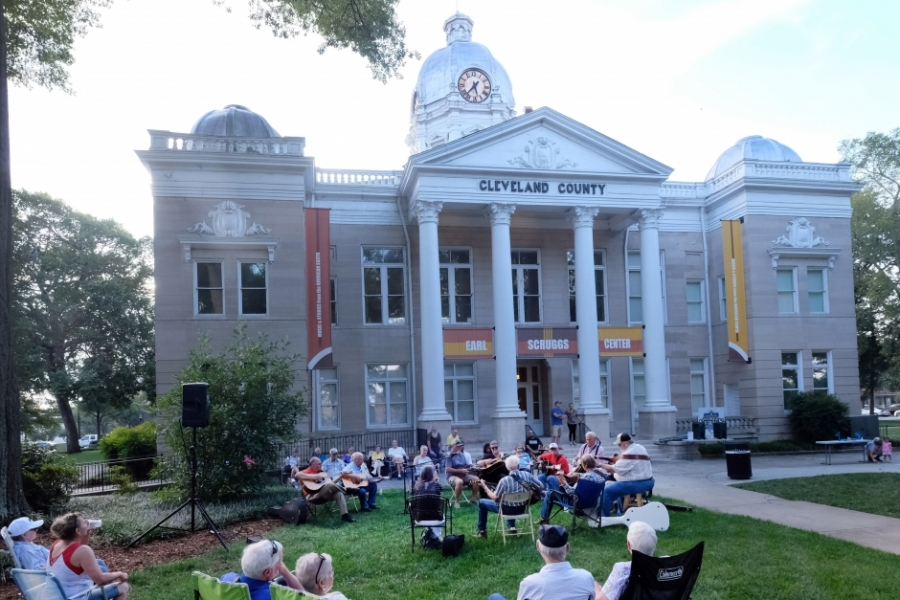 The Earl Scruggs Center is located in the former county courthouse. Photo: Nancy Pierce.