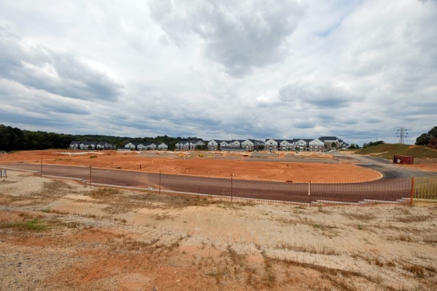 Development at South Fork Village, near the river in Cramerton. Photo: Nancy Pierce.