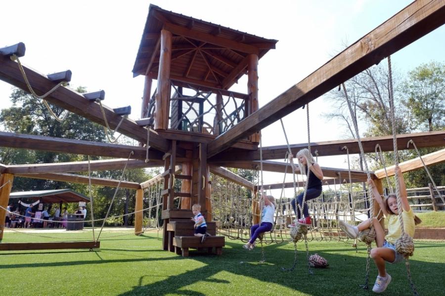 A playground on Goat Island. Photo: Nancy Pierce