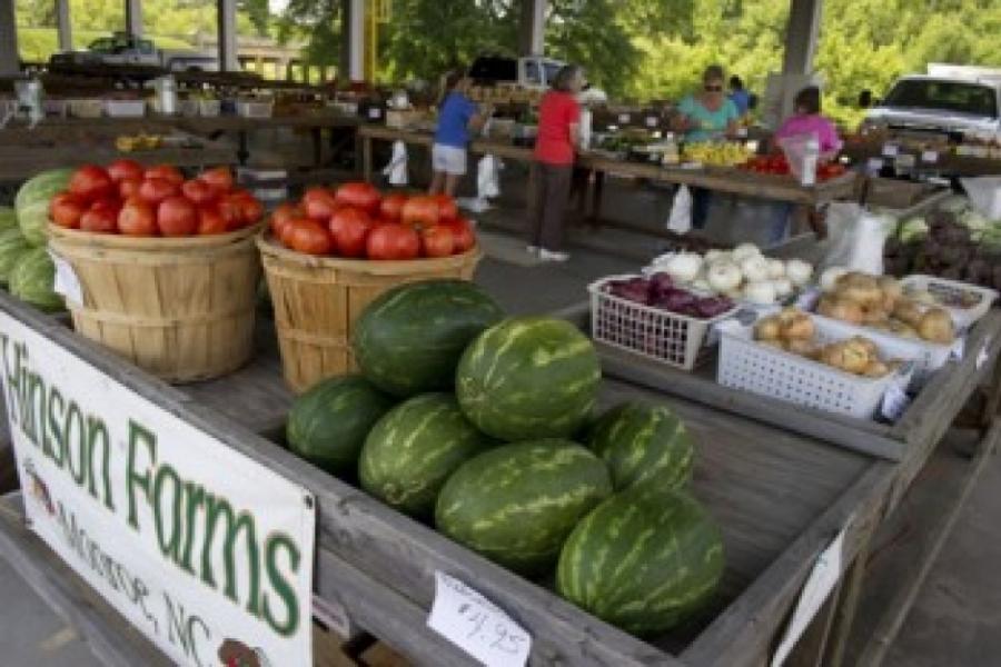 Monroe farmers market.
