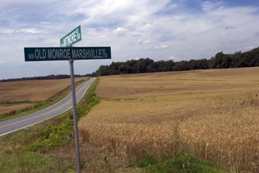Rural landscape in eastern Union County.