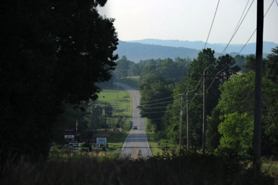 Brushy Mountains visible from Hwy 115 between Statesville and Wilkesboro, in northern Iredell County.
