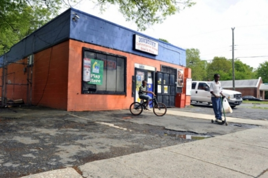Belmont: Many corners in the neighborhood have small stores such as this one at Hawthorne Lane and Kennon Street.