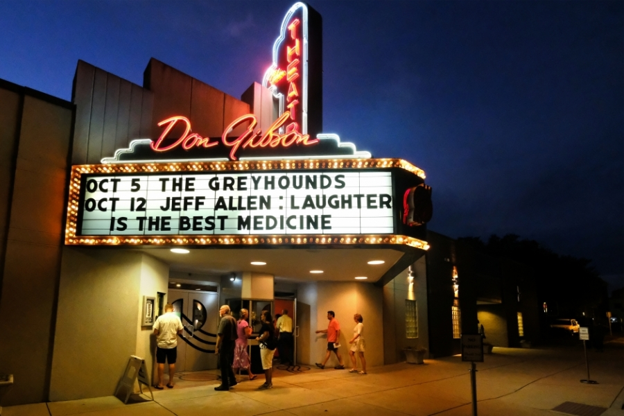 Uptown Shelby is home to the Don Gibson Theatre. Photo: Nancy Pierce