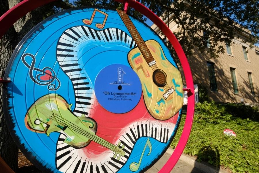 Street art celebrates Don Gibson's music in Shelby. Photo: Nancy Pierce