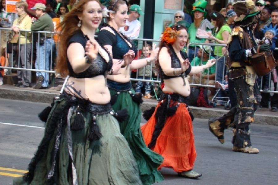Don Sturkey  Belly dancers at Charlotte's St. Patrick's Day Parade. Photo: Don Sturkey