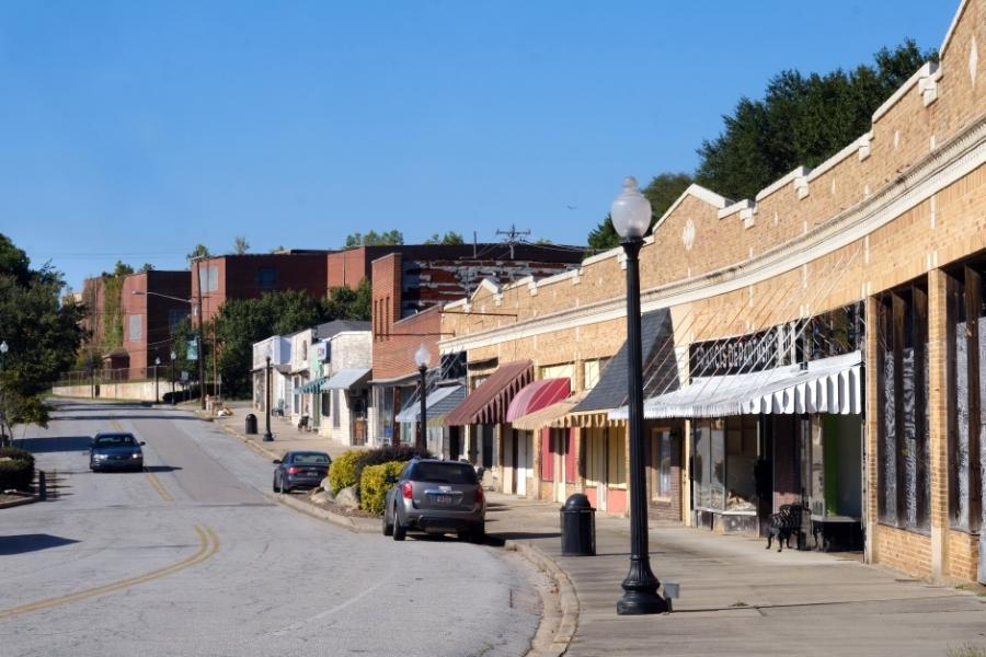Downtown Great Falls, S.C. Photo: Nancy Pierce