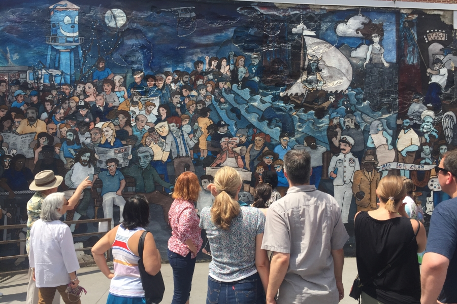 A mural in Charlotte, part of the History, Murals and Mills walking tour. Photo: Bridget Hochwalt.