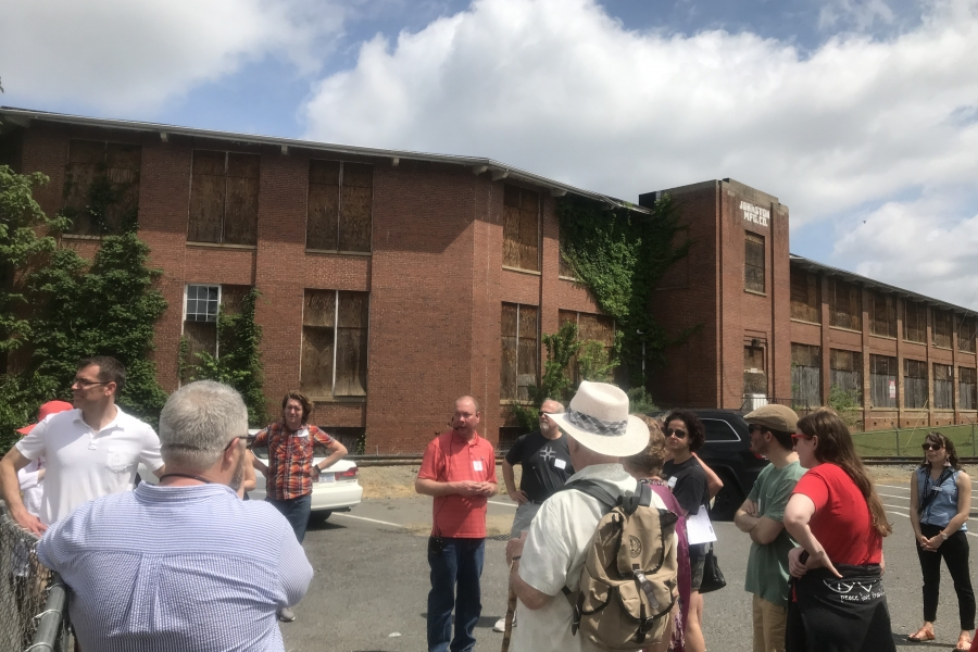 A mill in Charlotte that's planned for redevelopment, one of many that are being repurposed in the wake of the textile industry. Photo: Laura Simmons.