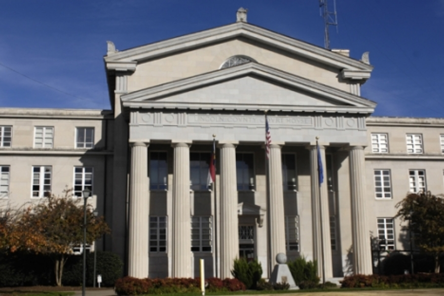 Lincoln County Courthouse, Lincolnton.