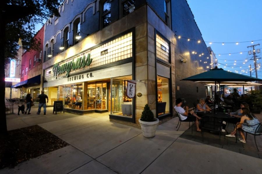 Newgrass Brewing on Lafayette Street is a popular pre-concert spot. Photo: Nancy Pierce