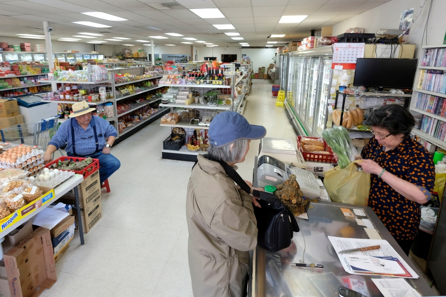 After 27 years in the Sedgefield Shopping Center, near the New Bern Station, the Anh Dao Sakura Oriental Market will move by June 1 to larger space near the Scaleybark Station. Marsh Properties will demolish Sedgefield Shopping Center and build a two-story office/retail structure. Photo: Nancy Pierce