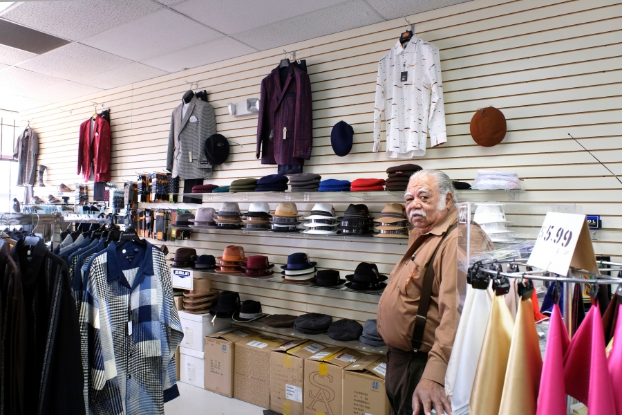 Owner and master tailor James Holloway opened his men's clothing shop, Holloway's Men's Shop, in 1974 at Tryon Mall (now Asian Corner Mall) and moved to North Pointe Plaza in 1995, near the newly opened Old Concord Road Station. Photo: Nancy Pierce