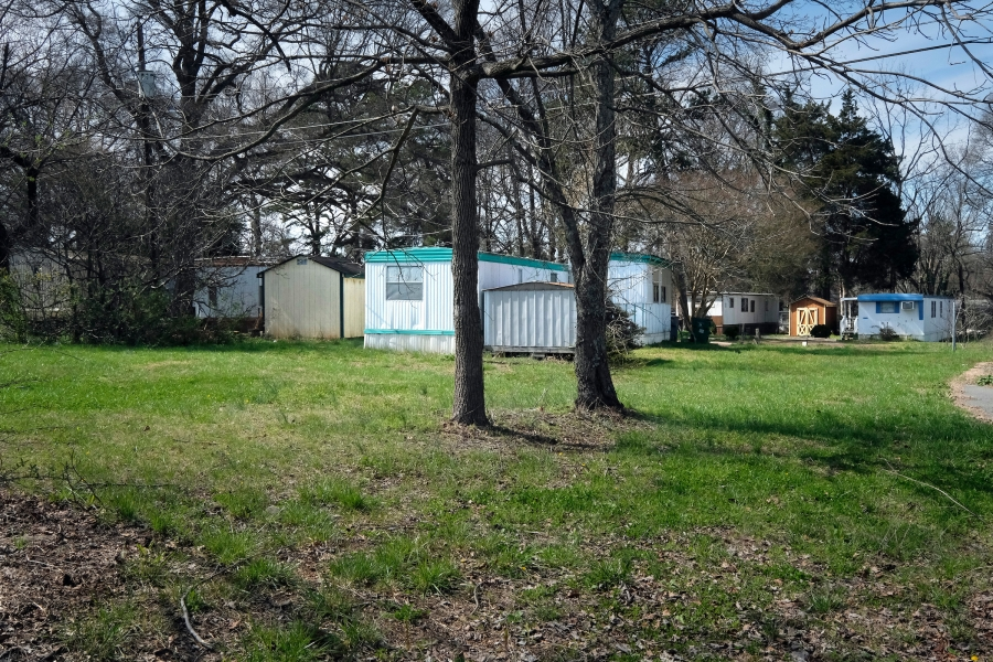 The North Tryon Mobile Home Park near the Old Concord Road Station dates to a time when this part of North Tryon Street was on the rural fringe of the city. Today it offers much-needed affordable housing. Photo: Nancy Pierce