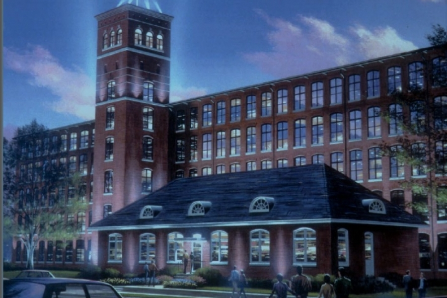 Artist's rendering of the proposed redevelopment of Gastonia's Loray Mill. Image courtesy City of Gastonia