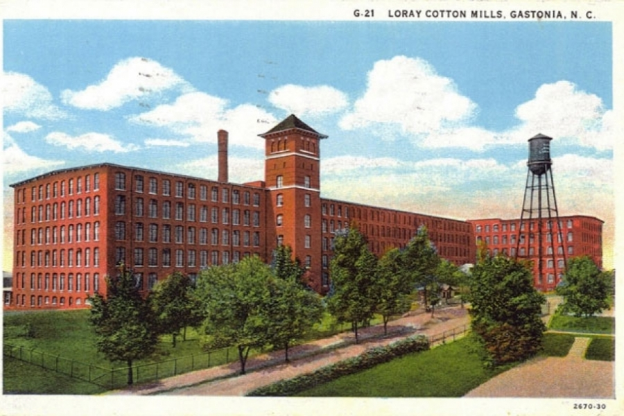 Gastonia's Loray Mill in its heyday, one of the most important sites in N.C. labor history. Image courtesy City of Gastonia