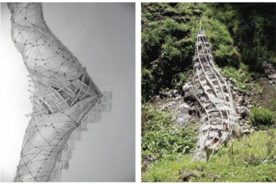 Daniel McCormick's environmental art goes from conception to construction. California. Photo: the artist