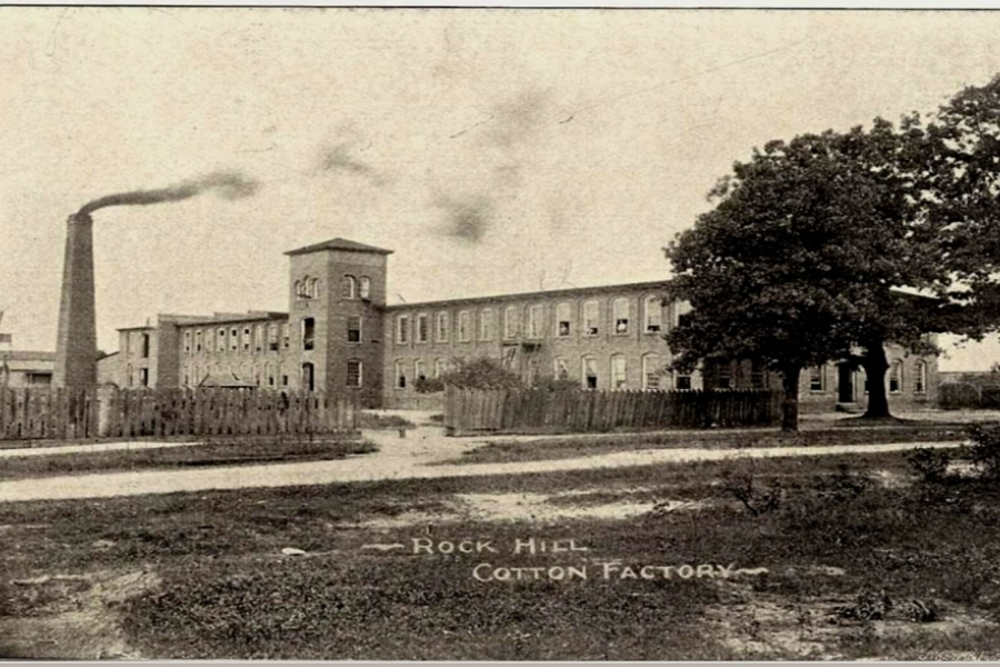 The 1881 Ostrow Textile Mill was South Carolina's first steam-driven mill, and Rock Hill's first mill. Image: City of Rock Hill