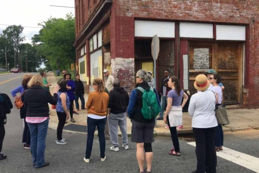 The historic Red Front Department Store is the oldest retail building in the Belmont neighborhood, a highlight of the May 6 City Walk through the neighborhood, in partnership with the Charlotte Museum of History. Photo: Mary Newsom