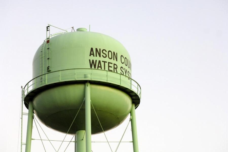 Water tower in Wadesboro.
