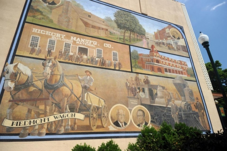 Hickory mural near Union Square.