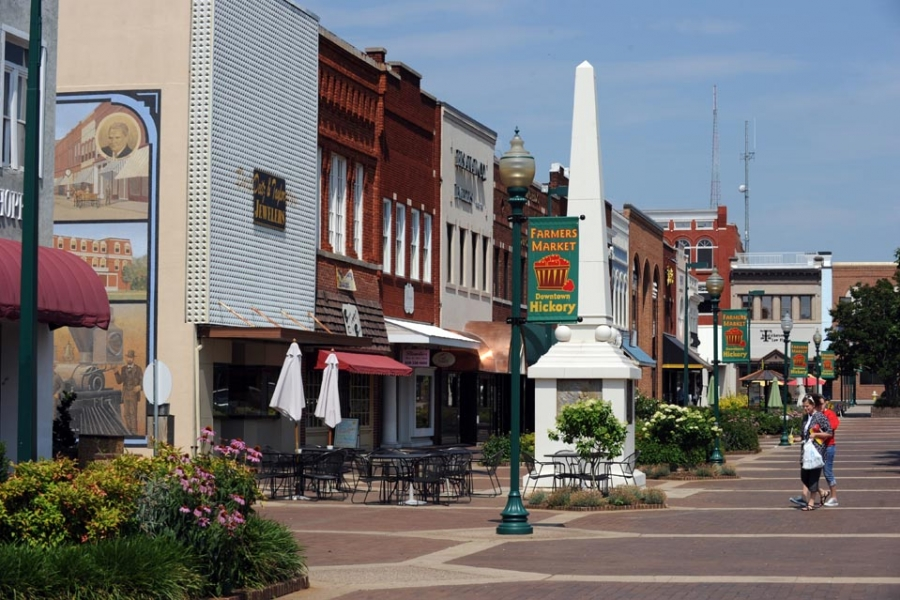 Downtown Hickory.