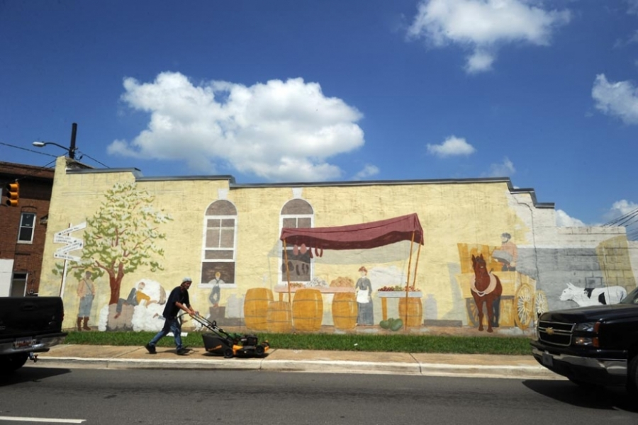 Downtown Chester, S.C., mural.