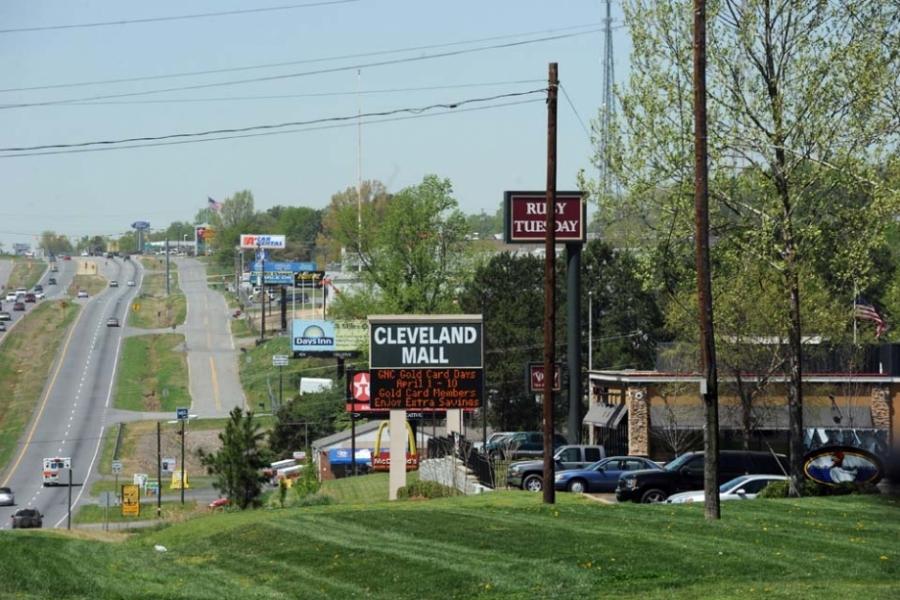 U.S. 74 West near Cleveland Mall Shelby.