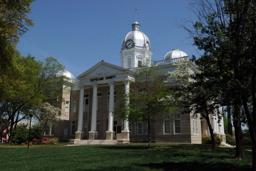 The courthouse in downtown Shelby.