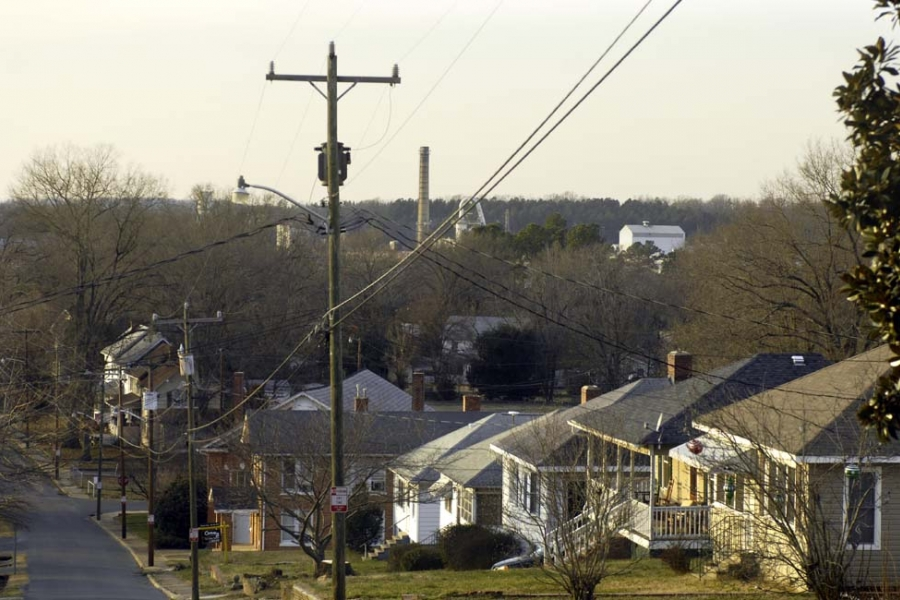 Town of Badin with Alcoa in the background.
