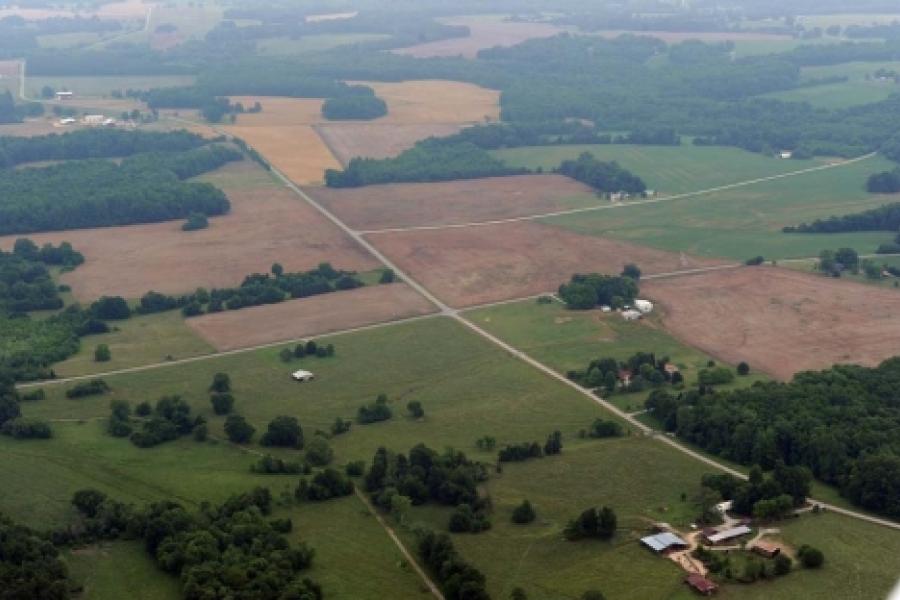 Farmland western Rowan County.