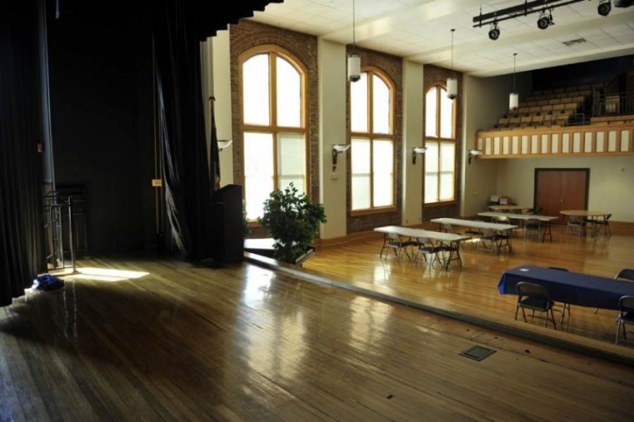 Auditorium of old Albemarle High School after renovation.