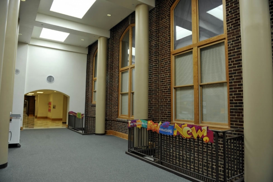 Interior, old Albemarle High School, now Central Elementary in Albemarle.