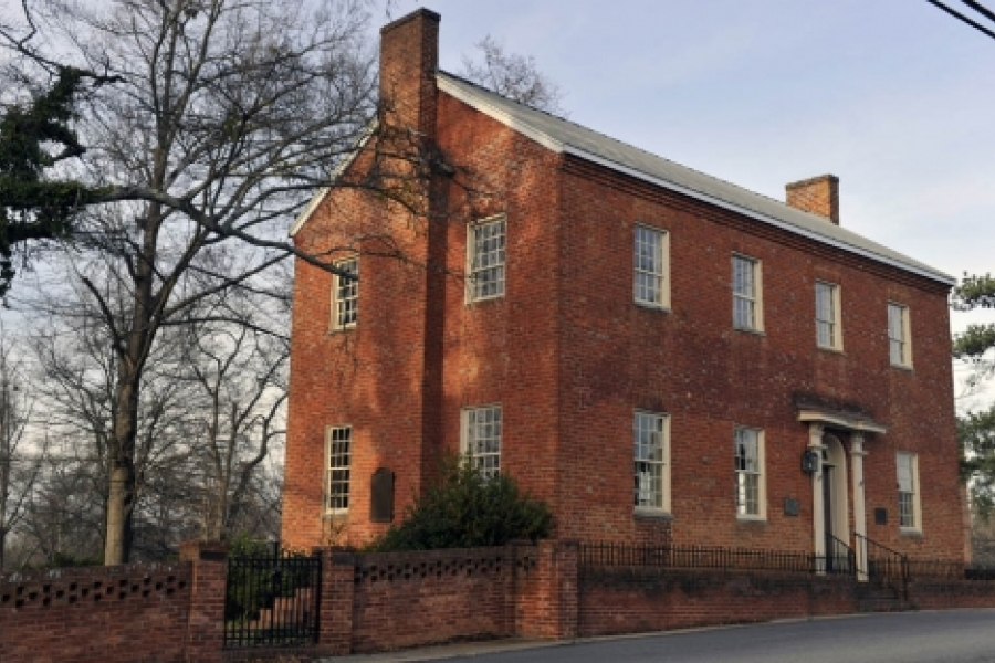 Chartered in 1813 and constructed between 1817 and 1820 the Pleasant Retreat Academy is the earliest brick structure in Lincolnton.