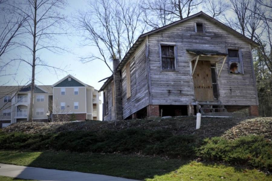 The Siloam School off Mallard Creek Church Road in Charlotte on the grounds of Mallard Glen Apts.