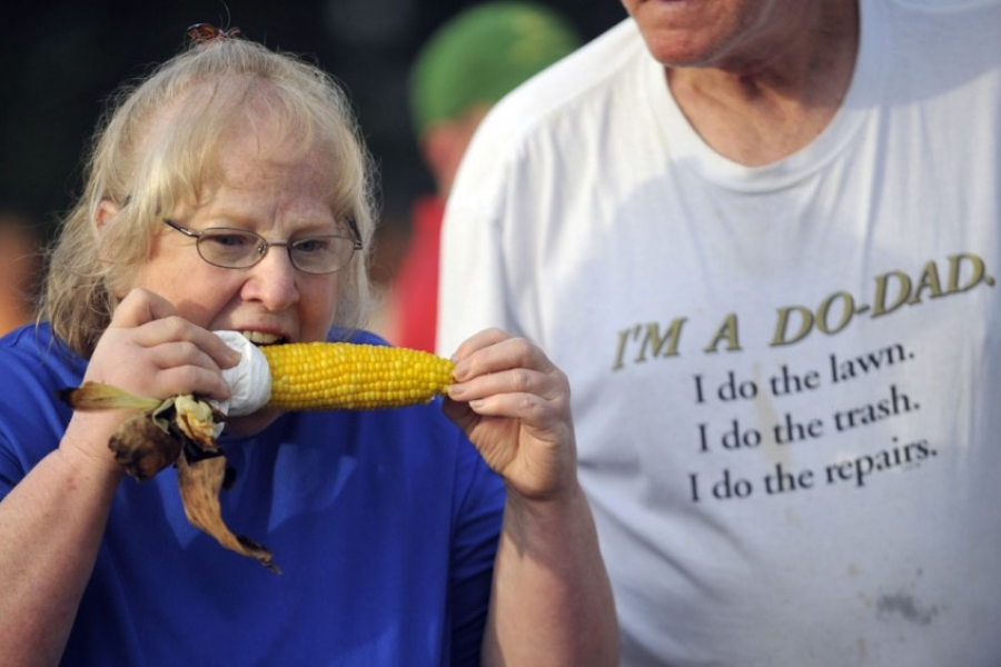 Corn on the cob, at the Polkville Rodeo in Cleveland County.