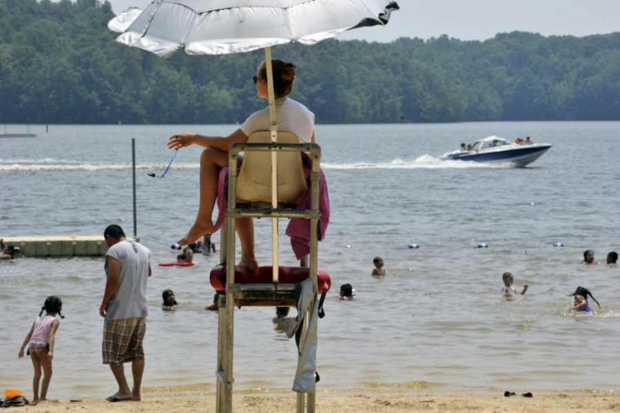 Swimming and boating at Cane Creek Park in Union County.