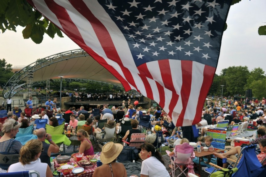 A Charlotte tradition: Celebrating Independence Day with the Charlotte Pops in Symphony Park.