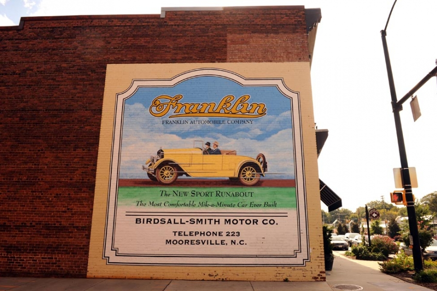 Mural in downtown Mooresville, Iredell County.